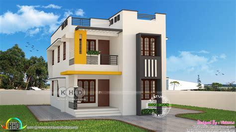 Cute And Stylish Contemporary Home 1600 Sqft Kerala