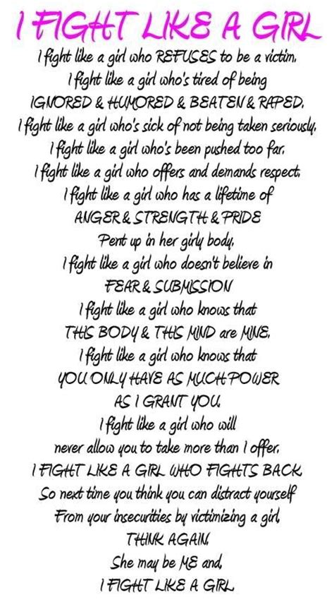 Fight Like A Girl Quotes