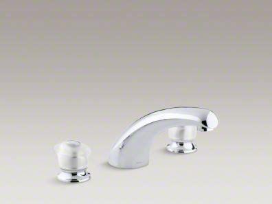kohler coralais deck mount bath faucet trim   spout