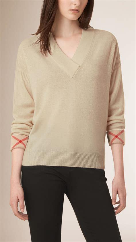 burberry sweater burberry shawl collar sweater in lyst