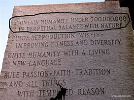 Image result for georgis guidestones