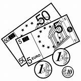 Dinero Dibujos Colorear Pintar Money Coloring Monedas Billetes Imprimir sketch template