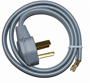 3-prong Electric Dryer Cord - 4 Feet