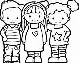 Coloring Friends Pages Cute sketch template