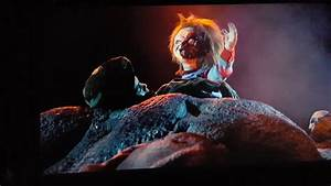 Child's Play 3 (1991) Chucky Gets His Face Slice In Half ...