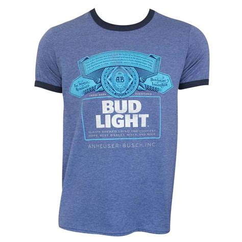 bud light t shirt bud light men 39 s heather blue ringer t shirt