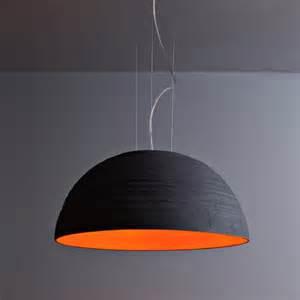 stehleuchten design große design pendelleuchte mit halbkugelförmigem keramikschirm