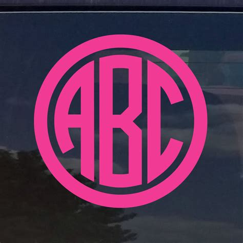 custom circle monogram initials vinyl decal sticker cars yeti cup laptop phone ebay
