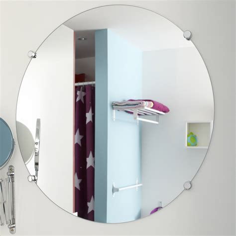 miroir non lumineux d 233 coup 233 rond l 60 x l 60 cm poli leroy merlin