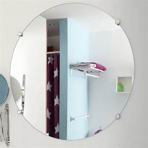 Miroir Salle De Bain Rond : miroir non lumineux d coup rond x cm poli leroy merlin ~ Teatrodelosmanantiales.com Idées de Décoration