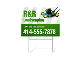 landscaping signs lawn care signs signazoncom