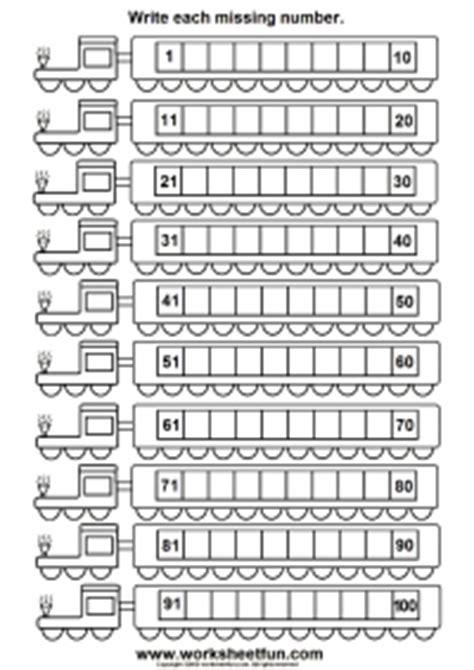 missing numbers 1 100 six worksheets free printable