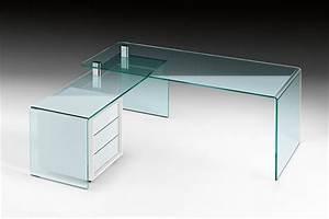 Bureau Angle Verre : bureau d angle verre bureau en verre noir eyebuy ~ Teatrodelosmanantiales.com Idées de Décoration