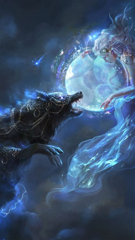 Animal Magic Wallpaper - 1080x1920 wolf lights