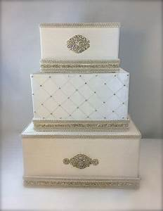 wedding money box ivory and gold classic wedding card With gift card boxes for weddings