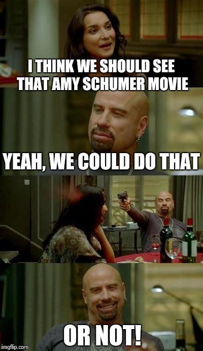 Amy Schumer Meme - skinhead john travolta meme imgflip