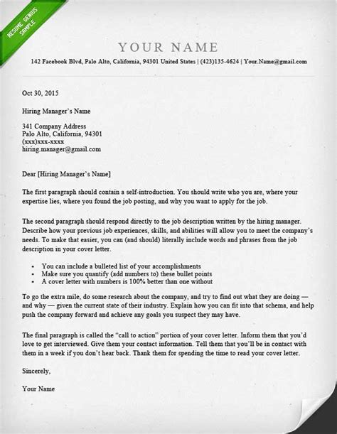 Cover Letter Template 40 Battle Tested Cover Letter Templates For Ms Word