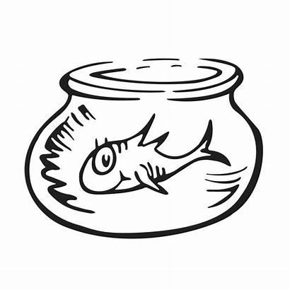 Seuss Dr Bowl Coloring Thing Fish Ham