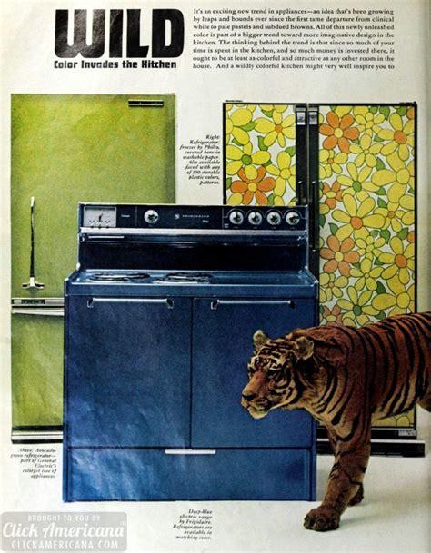 crazy colorful retro kitchens     bright