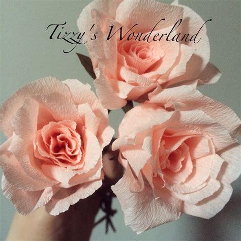 carta fiori tutorial fiori di carta crespa rosa my flowers