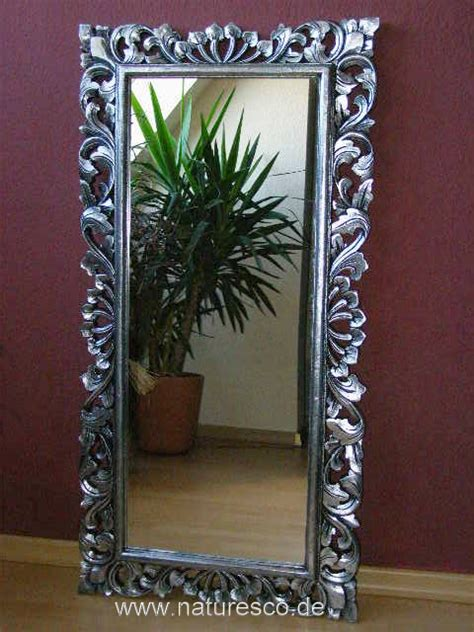 spiegel barock silber spiegel wandspiegel barock massiv holz barockspiegel silber antik 120cm x 60cm ebay