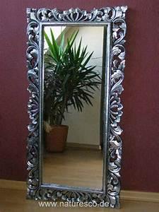 Großer Wandspiegel Silber : spiegel wandspiegel barock massiv holz barockspiegel silber antik 120cm x 60cm ~ Markanthonyermac.com Haus und Dekorationen