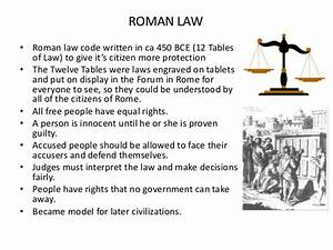 The Twelve Tables Were The Written Laws Of Roman