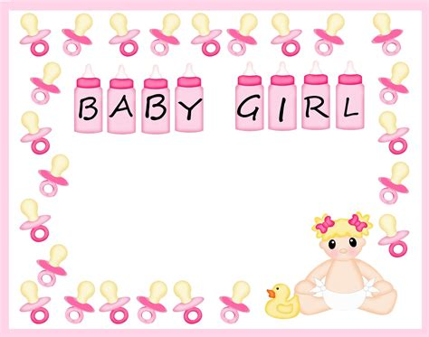 baby shower border templates   clip