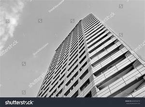 Modern Luxury Apartment Building Black White Stock Photo ...