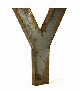 industrial rustic metal large letter y 36 inch kathy kuo With 36 inch metal letters
