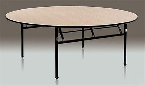Dining/banquet/outdoor Round Folding Table With Wheel