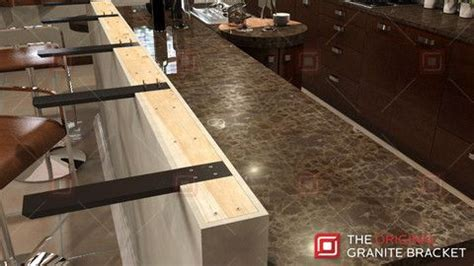 How To Install Corbels For Granite Countertops by Knee Wall Countertop Support Bracket In 2019 Countertop