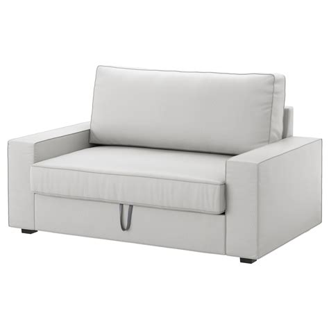 canapé sits vilasund two seat sofa bed ramna light grey ikea