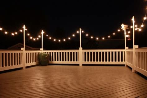 how to hang string lights on fence pin by aina wahl on verandarekkverk pinterest lakes