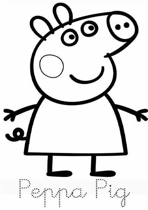 Printable Coloring Pages Peppa Pig Coloring Home