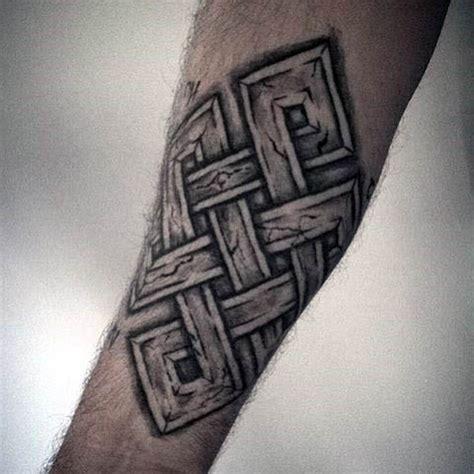 endless knot tattoo designs  men eternal ink ideas