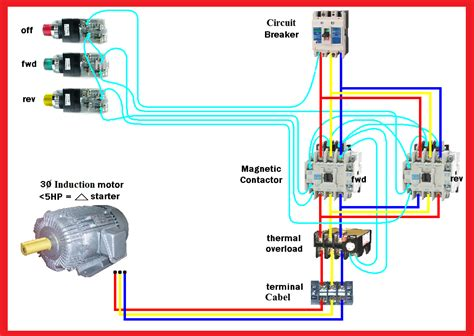 electrical drawing motor starter the wiring diagram
