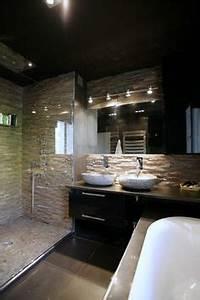 maison renovation luxe salle de bain exceptionnelle selles With carrelage adhesif salle de bain avec lumière noire led