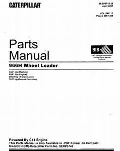 Caterpillar 966h Wheel Loader Download Parts Manual Pdf