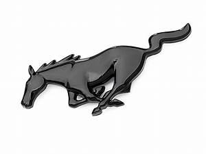 Mustang Horse Logo Black