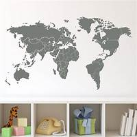 nice world map wall decals 20 Collection of Vinyl Wall Art World Map