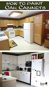 Painting oak cabinets thriving home for Best brand of paint for kitchen cabinets with produce stickers