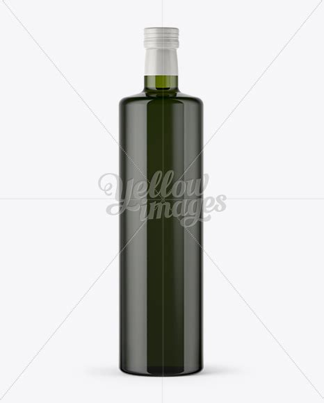 The most common olive oil bottle material is glass. 1L Green Glass Olive Oil Bottle Mockup in Bottle Mockups ...