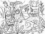 Hawaiian Coloring Islands Hawaii Pages Getdrawings sketch template