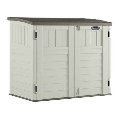 vertical storage shed sears craftsman 4 5 quot x 2 8 25 quot resin horizontal utility shed