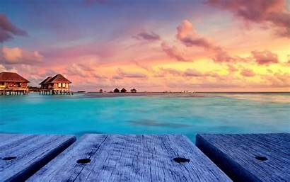 Sunset Tropical Island Beach Desktop Sky Landscape