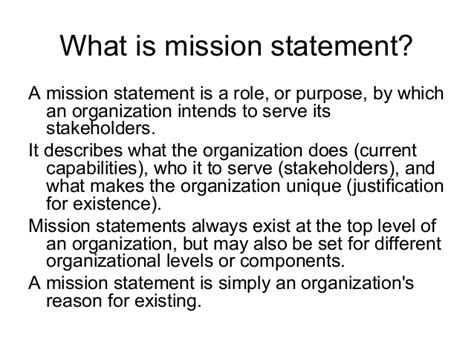objectives mission and vision