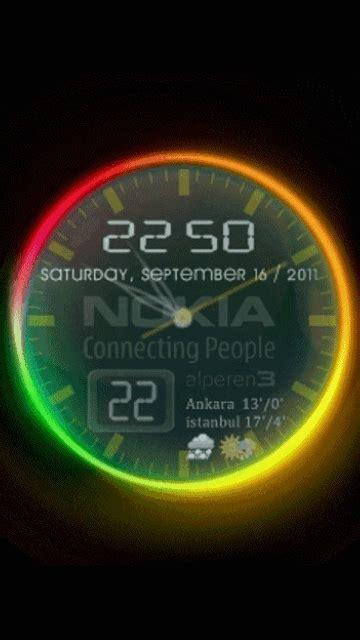 Digital Clock Clock Live Wallpaper Mobile9 by Color Clock Animated Mobile Screensavers