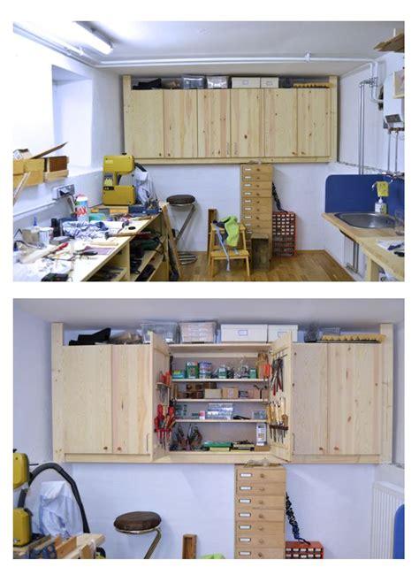 ikea hack ivar cupboards  tools storage