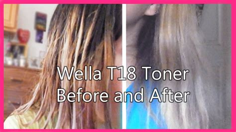 Wella Toner T18 Before And After